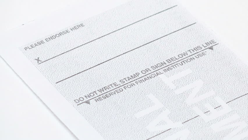 Your Checks May Be Blank on the Back. And That's Okay!