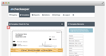 checkeeper online check printing and check registry